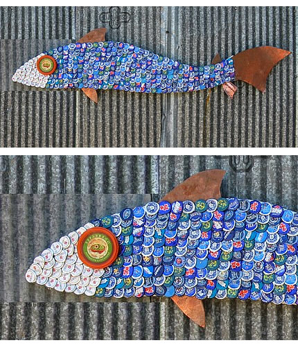Craft Ideas  Recycled Materials on Recycled Materials    Blog Archive    Recycled Bottle Caps Extreme