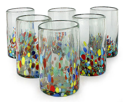recycled drinking glasses