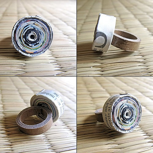 recycled paper rings