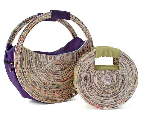 recycled newspaper handbag